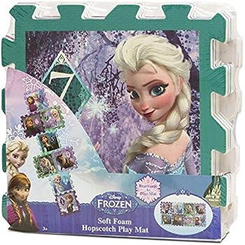 Amazon Com Frozen Foam Hopscotch Play Mat 8 Piece Toys