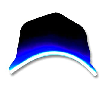 baseball cap with led lights in brim wholesale fashion light up hat blue