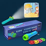 MiDeer Kids Story Flashlight Toys Storybook Torch Educational Toy Handed Projector