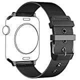 Apple Watch Band,LWCUS NEW Milanese Loop Stainless Steel iWatch Band with Classic Buckle for Apple Watch Series 2,Series 1,Sport,Edition,Smart Apple Watch Accessories(BLACK / 42MM-Elegant Flimsy)