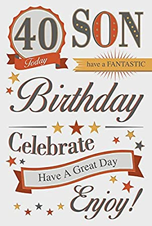 Son 40th Birthday Card Amazoncouk Kitchen Home