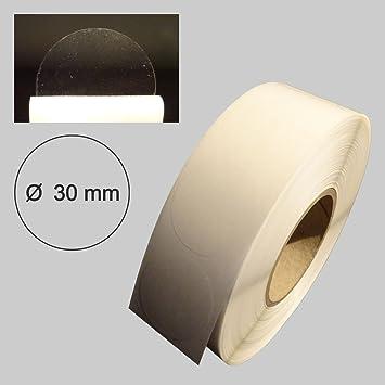 4.000 St/ück transparent 40 x 20 mm Verschlussetiketten auf Rolle