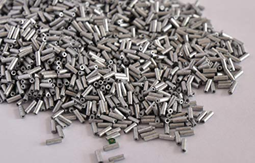 The Design Cart Metallic Silver Pipe/Bugle Beads/Glass Seed Beads (6.0 mm) (450 Grams) Standard Quality, for - Jewellery Making, Beading, Arts and Crafts and Embroidery. ()