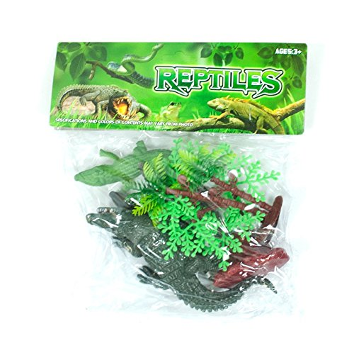 LilPals Reptile Bundle (7 Piece Set) - Great For Stocking Stuffer Birthday Cake Topper, Party Favor Bags, School Classrooms, Carnivals, Festivals And Countless Other Events