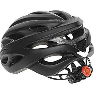 Critical Cycles Silas Bike Helmet with LED Safety Light Adjustable Dial and 24 vents