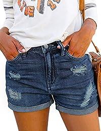 576069de15 Denim Hot Shorts for Women Casual Summer High Waisted Short Pants with  Pockets