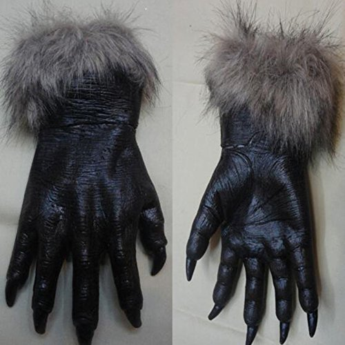 VT BigHome Werewolf Black Wolf Paws Claws Cosplay Gloves For Halloween Party Costume Accessory Women Men ()