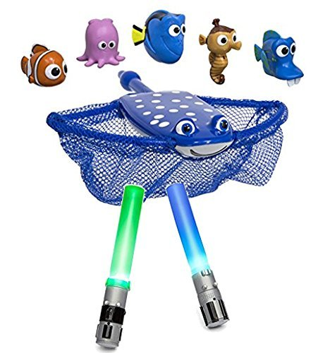 Bundle Includes SwimWays Finding Dory Mr Ray's Dive and Catch and SwimWays Star Wars Light-up 6 Inch Lightsaber Dive Sticks by SwimWays