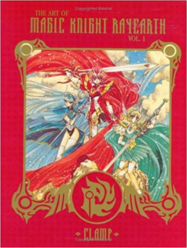 RAYEARTH Magic Knight CLAMP Illustration Collection w//Poster Art Book