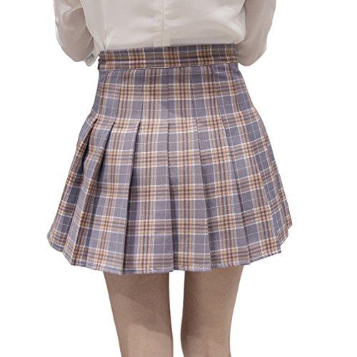 Hoerev jupe pliss filles cole tennis skieur femmes haute de courte Stripes taille Gris gx6Hagwrq