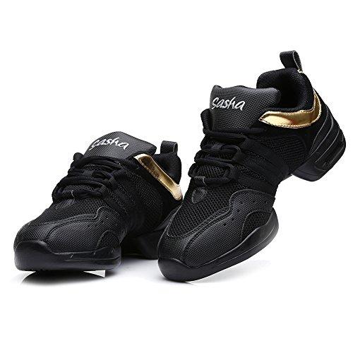 Ballroom YKXLM Black A Gold B55 Women's Sports B56 2 Shoes Performance Men Sneakers Dance Sneaker Modern Model Boost Jazz Dance and frfZUWq8