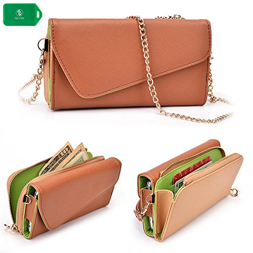 wallet-phone-holder-clutch-includes-crossbody-strap-nude-brown-universal-fit-for-apple-iphone-6-plus