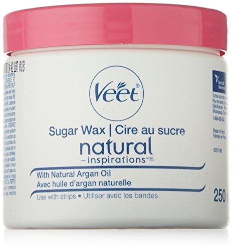 Veet Natural Inspirations, Sugar Wax Hair Removal Kit, Sensitive Skin, Face  Legs & Body, 250 ml