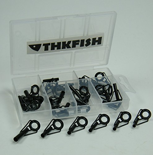 30pcs-in-Box-Black-Nikel-Saltwater-Sea-Heavy-Duty-Boat-Fishing-Rod-Guides-Top-TIPS
