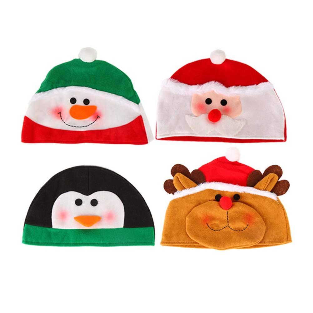 BESTOYARD 4pcs del Fumetto Cappello di Natale Bordo Cappello di Babbo Natale Copricapo del Partito favori Decorazioni per Adulti