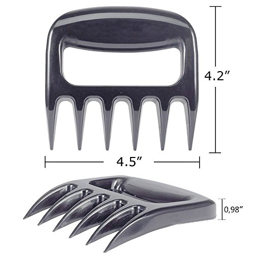 Doris store Bear Claws Meat Shredder,BBQ Pulled Pork Forks for Barbecue Grill Smoker Kitchen Dishwasher Safe Lift Pork Beef Turkey Poultry and Fish BPA Free Heat Resistant Nylon Black 2-Pack