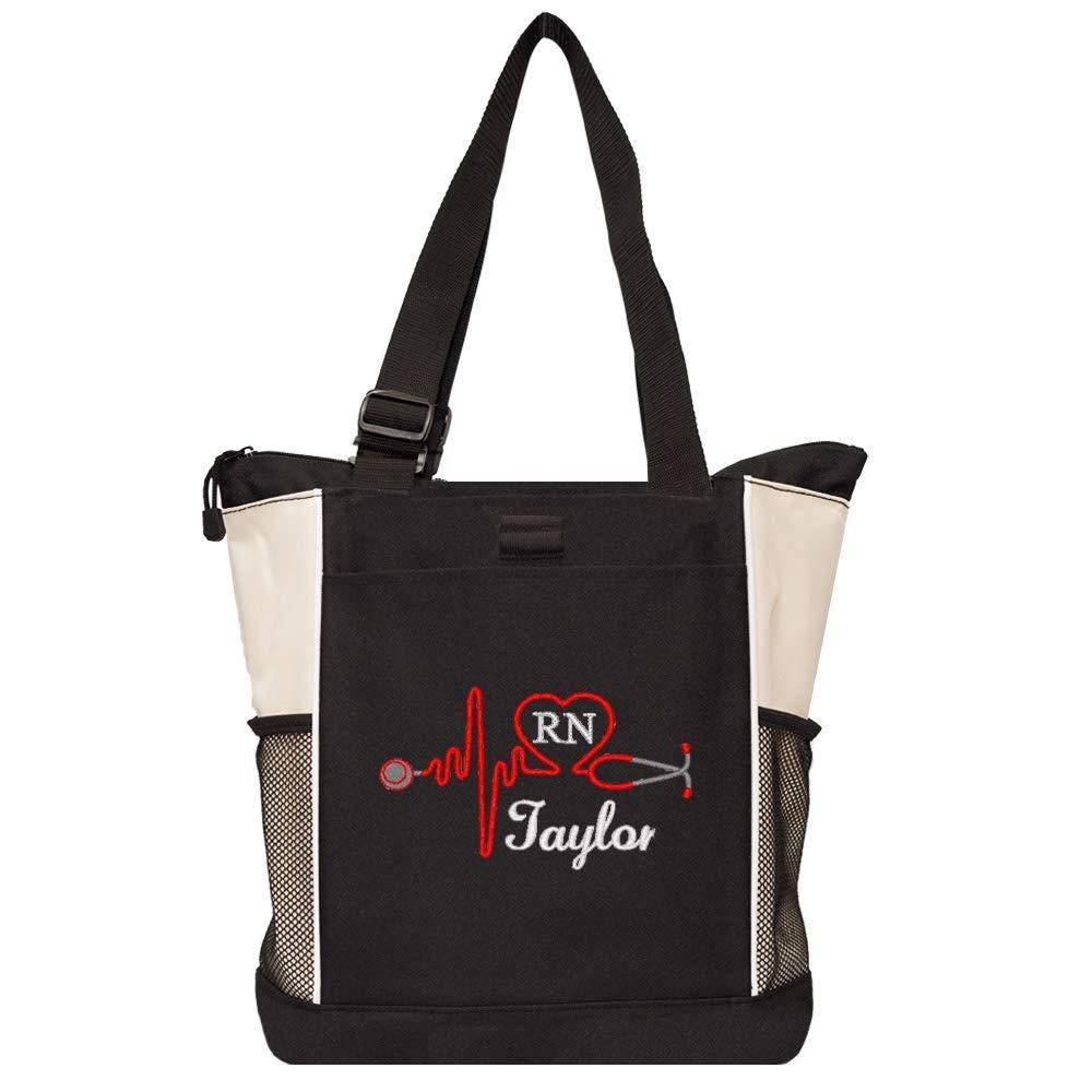Personalized Medical Professional Nurse Tote Bags RN, LPN, CNA, PA, EMT