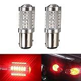 KATUR 2pcs 1157 BAY15D 5630 33-SMD Red 900 Lumens 8000K Super Bright LED Turn Tail Brake Stop Signal Light Lamp Bulb 12V 3.6W
