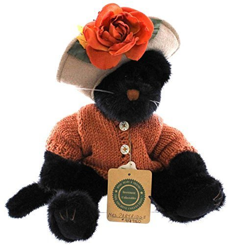 Boyds Halloween Bear - Boyds Bears Plush MRS PARTRIDGE 919750 Halloween Black Cat