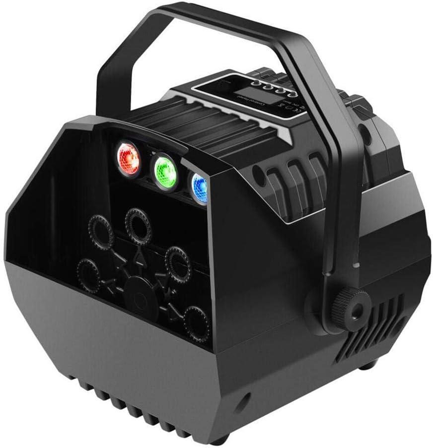 dewdropy Máquina De Burbujas, LED Mini Máquina De Burbujas Automática Control Remoto Inalámbrico Lámpara De Luces De Efecto De Escenario