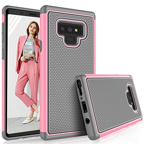 (Tekcoo For Galaxy Note 9 Case,Samsung Note 9 Case For Girls, [Tmajor] Shock Absorbing Hybrid Rubber Silicone & Plastic Scratch Resistant Bumper Grip Cute Sturdy Hard Cases Cover (Baby Pink))