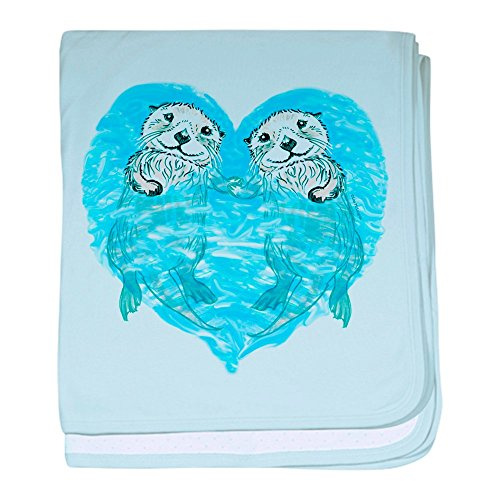 CafePress - sea Otters Holding Hands Baby Blanket - Baby Bla