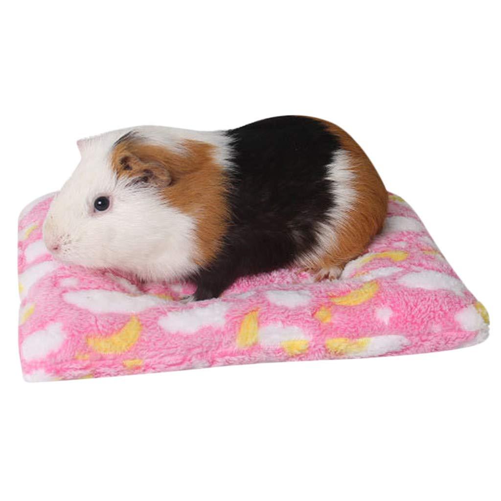 QinMM Warme Kleintier Bettmatte Hamster Chinchilla Kaninchen Nest Heimtierbedarf Weich