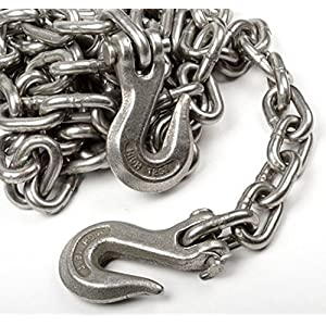"""WennoW 3/8"""" X 14' Heavy Duty Tow Chain Automotive Truck Towing 14ft Log Chain"""