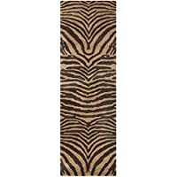 Safavieh Soho Collection SOH434C Handmade Brown and Gold Premium Wool Runner (26 x 12)