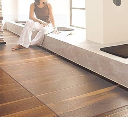 Soclear–Sotto Sedia–Soft Glass–Tappeto PVC–Protezione Parquet pavimento–Protezione COMPUTER–Tappeto d' ingresso, Plastica, Transparent 1.5mm, 50 x 80 cm