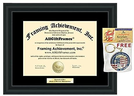 Amazon.com - Engraved Degree Frame Certificate College Framing ...