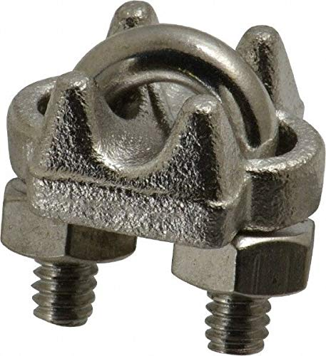 Wire Rope U-Bolt Clip Material Grade 316 Campbell Stainless Steel for 3/16 I.