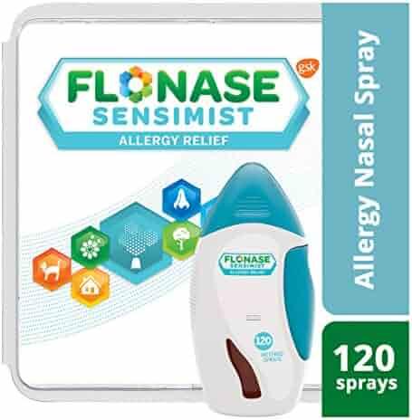 Flonase Sensimist Allergy Relief Nasal Spray, Allergy Medicine Scent-Free Alcohol-Free Gentle Mist 24 Hour Non-Drowsy, 120 sprays