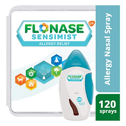Flonase Sensimist Allergy Relief Nasal Spray, Allergy Medicine Scent-Free Alcohol-Free Gentle Mist 24 Hour Non-Drowsy, 120 - Allergy Spray Nose