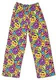 Emoji Pants for Kids Confetti and Friends Fuzzy Plush Pants - Rainbow Emoji - 14/16