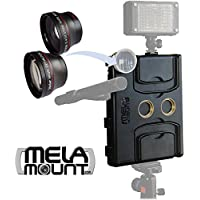 Melamount MM-IPAD PRO 9.7 Video Stabilizer Pro Multimedia Rig for Apple iPad PRO 9.7 And iPad AIR 2 + Lens Set 37mm TELEPHOTO & 37mm WIDE ANGLE
