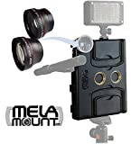 Melamount MM-IPADAIR2 Video Stabilizer Pro Multimedia Rig for Apple iPad Air 2 + Lens Kit 37mm TELEPHOTO & 37mm WIDE ANGLE