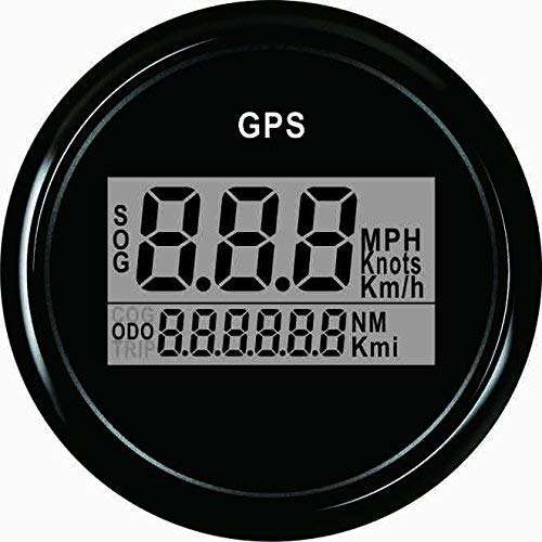 ELING Warranted Digital GPS Speedometer Odometer for Car Boat with Backlight 2'' (52mm) 12V/24V