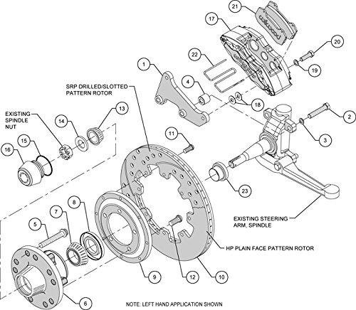 Amazon Com New Wilwood Front Disc Brake Kit 12 Drilled Rotors