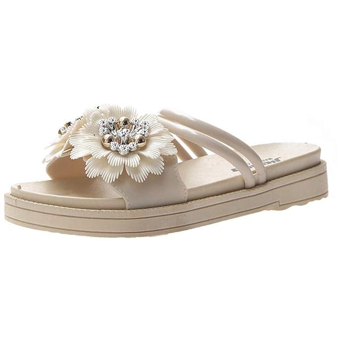 zarupeng✦‿✦ Zapatillas de Mujer con Forma de Flor para el ...