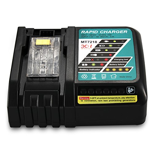 FLAGPOWER Replacement Power Tools Lithium-Ion Battery Charger 18V Iutput 120V for Makita BL1830 BL1815 BL1840