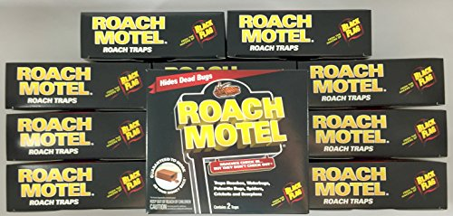 24 traps Roach Motel Black Flag Cockroach Killer bait Glue Trap by Black Flag