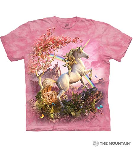 Unicorn Adult T-Shirt, Pink, XL ()