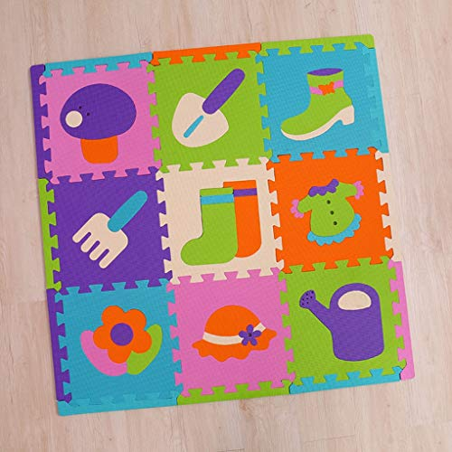 RXIN Kids Foam Play Mat Children's Puzzle Thick 1cm Crawling pad Long Edges Climbing pad Stitching Foam Baby Play mat Interlocking Puzzle by RXIN