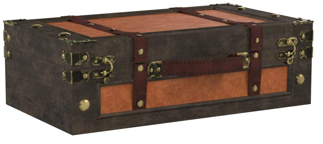 Old Style Suitcase With Straps, Small by Vintiquewise