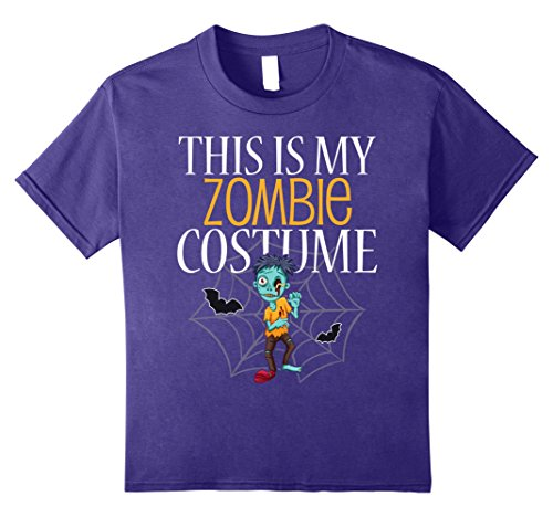 Kids This Is My Zombie Costume T-Shirt Halloween 10 (Zombie Family Costume Ideas)