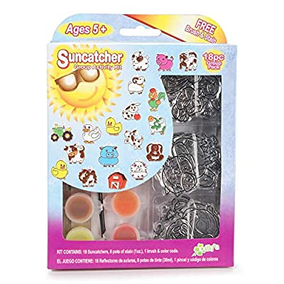The New Image Group KC69230 Kelly's Crafts Group Kit: Farm Suncatcher: Arts, Crafts & Sewing