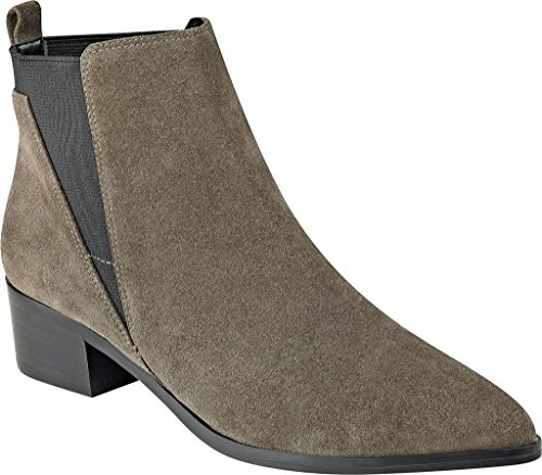 Marc Fisher Women's Ignite Double Gore Bootie Gray Suede