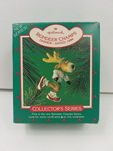 Dasher Reindeer Champs 1st in Series 1986 Hallmark Ornament QX4223