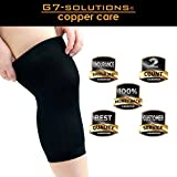 Get7Solutions Compression Knee Sleeve - Copper Fit Brace For Men & Women Relief & Support from Knee Pain, Ligament Injury - Large Pair
